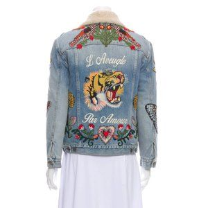 GUCCI 2018 L'Aveugle Par Amour Denim Jacket w/ Tag